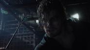 Oliver stabs Slade's eye