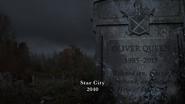 Oliver's gravestone in 2040