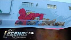 DC's Legends of Tomorrow Firestorm Mural Timelapse The CW