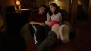 Rene ogląda z córką horrory po rozprawie sądowej