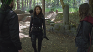 Oliver and Thea approaches Talia to ask her about Mar Novu