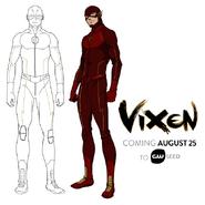 Vixen - The Flash concept art