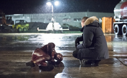 The Flash Grant Gustin and Leonard Snart Wentworth Miller