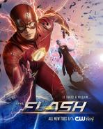 The Flash season 4 poster - It Takes a Villan