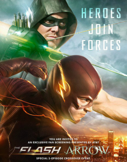 Arrow and The Flash crossover poster - Heroes Join Forces.png