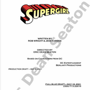Supergirl script title page - Nightmare In National City