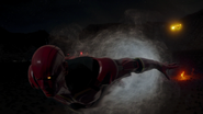 Flash i The Ray niszczą Red Tornado (2)