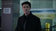 Barry Allen working as a CSI