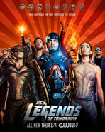DC's Legends of Tomorrow season 1 poster - Who Controls the Past Controls the Future
