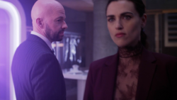 Lex send Lena to the Fortress of Solitude followed by a Morae.png
