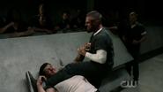Oliver breaks Derek Sampson's arm