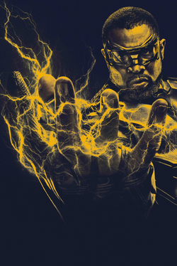 Black Lightning yellow monochrome poster.png