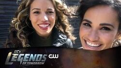 DC's Legends of Tomorrow Hawkgirl Mural Behind The Scenes The CW