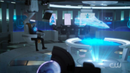 Brainy on the Legion cruiser's bridge during battle with Reign