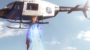 Supergirl and Flash fight on Silver Banshee and Livewire (7)
