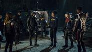 Team Arrow talks to FBI