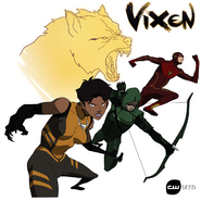 Vixen, The Arrow and The Flash - CWSeed