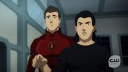 Barry Allen and Cisco Ramon watch Vixen