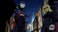 Atom and Black Canary help Vixen and Kuasa