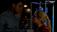 Curtis Holt and Felicity Smoak fight from Double Down (1)