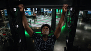 Curtis traning in Green Arrow cave