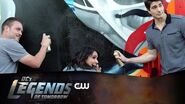 DC's Legends of Tomorrow Atom Mural Behind The Scenes The CW