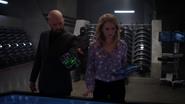 Lex and Eve experiments on a Lexosuit's gautlet