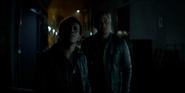 Luke and Diggle see the Bat-Signal