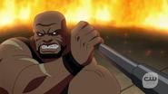 Eshu fight with Vixen, Kuasa, Atom and Black Canary (4)