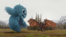 The Legends use the Totems of Zambesi to manifest as Beebo to take on Mallus.png