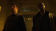 Oliver and John confronted by gangsters