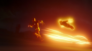Flash i The Ray niszczą Red Tornado (1)