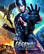 DC's Legends of Tomorrow season 1 poster - Biggest. Battle. Ever
