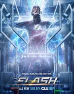 Poster da T2 de Flash - Para ser rápido novamente, ele arriscará tudo