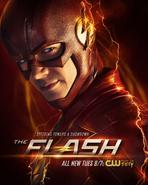 The Flash season 4 poster - Speeding Toward a Showdown