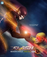 The Flash season 1 poster - Is he fast enough to change time?
