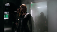 Black Siren and Black Canary fight in bunker (1)
