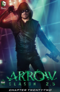 Arrow Season 2.5 chapter 22 digital cover