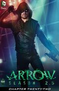 Arrow Season 2.5 chapter 22 digital cover