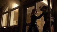 Black Canary (Evelyn Sharp) attacks gang and Alex Davis (3)