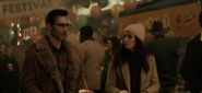 Lois and Clark at Smallville Harvest Festival