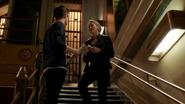 Patty Spivot and Barry Allen talk on teath Man-Shark (1)
