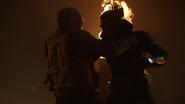 Green Arrow (Connor Hawke) fight Deathstroke (Grant Wilson) (4)