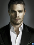 Oliver Queen front-on promo