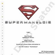 Superman & Lois script title page - Loyal Subjekts