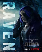 Titans - Raven Poster