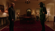 Damien Darhk fight on Green Arrow and Vixen (2)