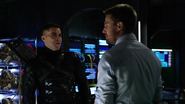 Oliver realizes he's hallucinating Adrian 1