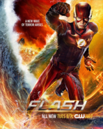 The Flash season 2 poster - A New Wave of Terror Arises