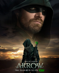 Arrow season 8 poster - Heroes Fall. Legends Rise..png